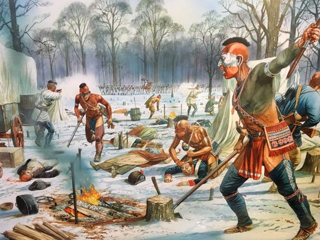 A coalition of American Indian tribes soundly defeated the U.S. Army in the Battle of the Wabash