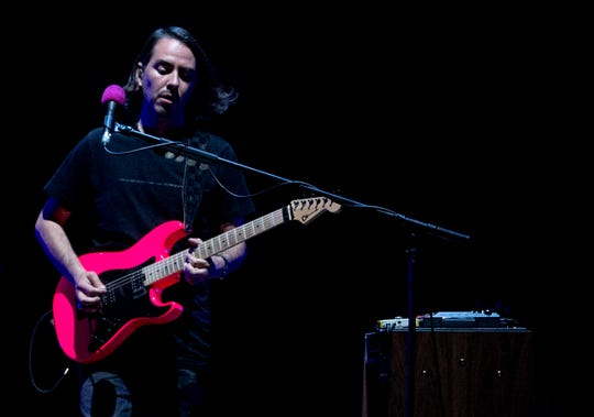 Dhani Harrison performs at Bridgestone Arena in Nashville, Tenn., Wednesday, July 3, 2019.
