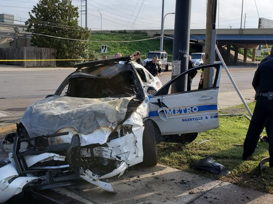 Officer John Anderson died in a crash early  July 4 after his cruiser was struck by a Ford Fusion at the intersection of Interstate Drive and Woodland Street.