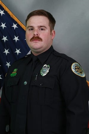 Officer John Anderson was killed Thursday, July 4, 2019, in a crash at Interstate Drive and Woodland Street.