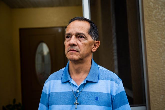 Diego Grisales at his home in Fort Myers on July 3, 2019. With his family, Grisales moved from Colombia to Florida due to concerns for his family's safety. They were granted political asylum, and now he and his wife are U.S. citizens.