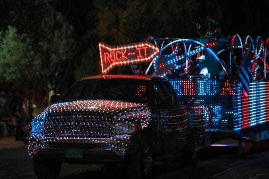 The Hernandez Plumbing Float won the Best Overall Float award for the 2019  Las Cruces Electric Light Parade on Wednesday, June 3, 2019.