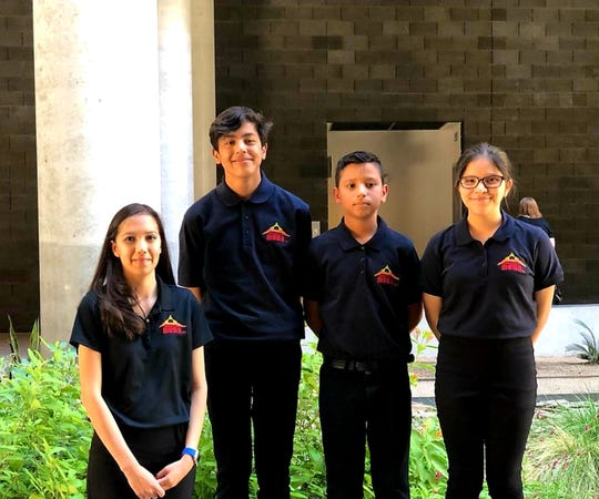 Chaparral Middle School NM MESA consisted of team members Elias Galvin, Isaac Garcia and Alyssa Sandoval who took first place in the overall competition at the Middle School level. In the process, they helped their classmate, Makayla, who is visually impaired.
