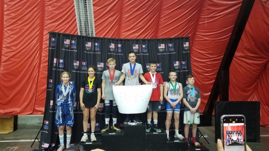 Bloomfield's Tyler Reinhardt won the 12-and-under, 117-pound division freestyle wrestling title at the National USA Wrestling Championships on June 29 in Wisconsin Dells, Wisconsin.