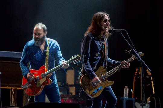 "Blackberry Smoke opens for the Tedeschi Trucks Band on Wednesday at The Wharf Amphitheater in Orange Beach, Alabama, during the ""2019 Wheels of Soul"" tour."