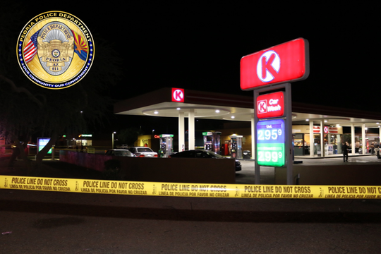 The Circle K in Peoria where a 17-year-old male was stabbed at 1:45 a.m. on July Fourth.