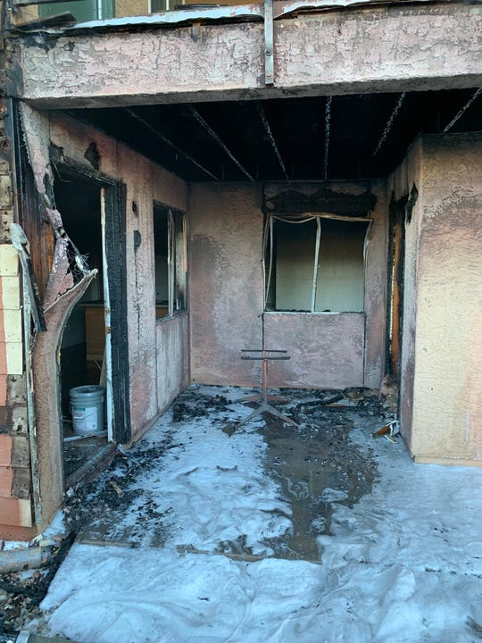 A mother and her son jumped from their second-story apartment to escape a fire on the floor below on July 3, 2019.