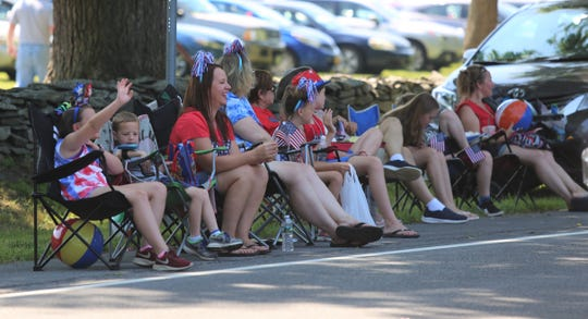 Thousands of people lined Route 9 in Hyde Park on Thursday, July 4, 2019 to celebrate the holiday at the town's annual Independence Day Parade.
