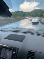 Flooding reported on I-83 in southern York County on Fourth of July.