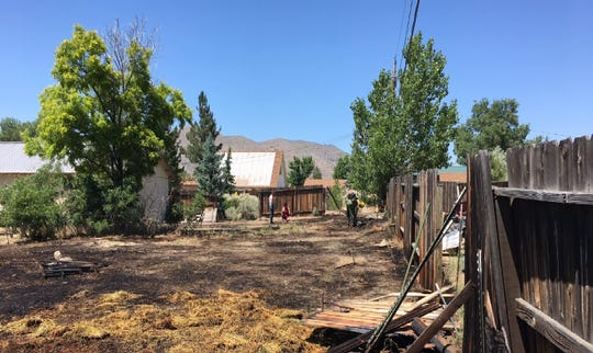 Illegal fireworks caused a backyard brush fire on July 4, 2019, at a home in the Cold Springs neighborhood northwest of Reno.