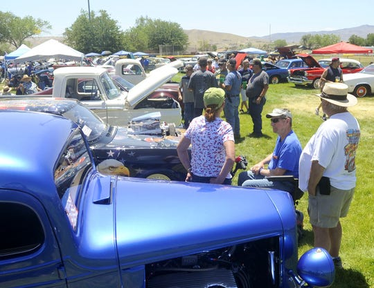 A show n' shine held in conjunction with Fernley's 4th of July  celebration draws a crowd each year.