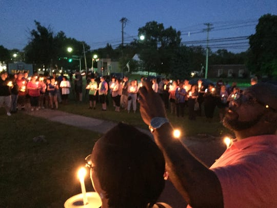 Candlelight vigil at Hope Hall