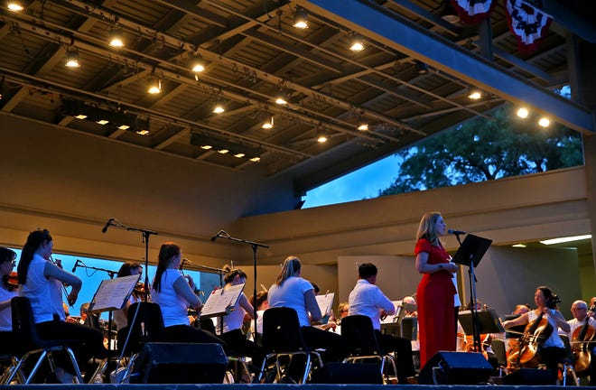 Demaree Brown, far right, performs at the 2019 San Angelo Symphony July 3 Pops Concert on Wednesday.