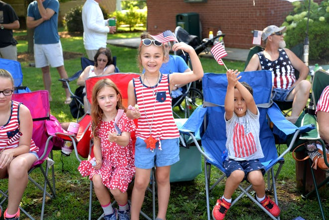 Thousands gathered at Gypsy Hill Park July 4, 2019 for the Happy Birthday America parade. Hot weather and blazing sun didn't deter the crowd.