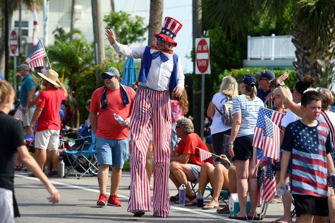 Indian River County community members gathered on Thursday, July 4, 2019 for a patriotic parade as part of the 48th annual Sebastian Fourth of July Festival at Riverview Park in Sebastian. The festival featured a 5K run/walk, skydivers, food and craft vendors, games and live music throughout the day ending with a fireworks display after sunset.