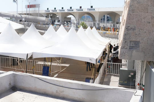 A new tent facility was erected in Juarez to process migrants.