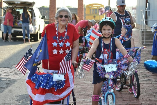 Participants of all ages and modes of transportation celebrated the Fourth of July in downtown Wichita Falls. This grandmother decorated her walker and kept stride with her younger generation.