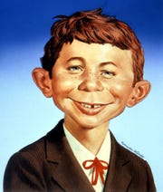 Alfred E. Neuman, the symbol of MAD magazine.