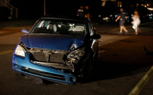 One of the three cars damaged in a hit and run accident at Atlantic and Chicago Avenues in Point Pleasant Beach late Thursday, July 4th, 2019.