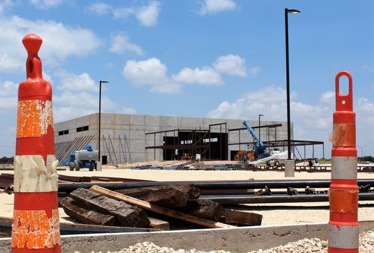 No work was underway Friday at the site of the Abilene Youth Sports Authority complex east of Nelson Park but the facility is coming along.