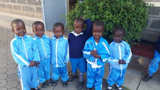 Some of the children who live at Holy Family Children's Home, an orphanage near Nakuru, Kenya.