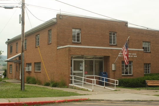 The U.S. Post Office is located on the campus of Davis Bible College in Johnson City.