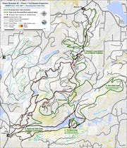 Proposed trail renovation and re-routing for Phase 1 Trail System Expansion at Green Mountain State Forest.