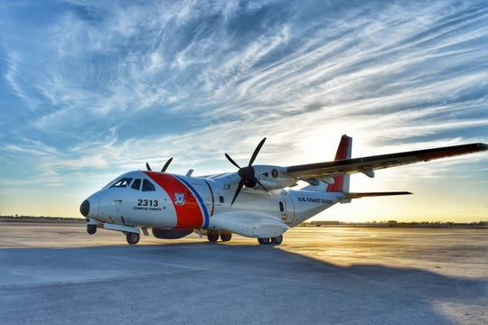 Coast Guard C-27 aircraft part of search for missing crew member from Carnival ship.