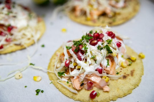 Salmon tacos are on the menu at the new Mexican-themed restaurant Artesano in Corpus Christi.