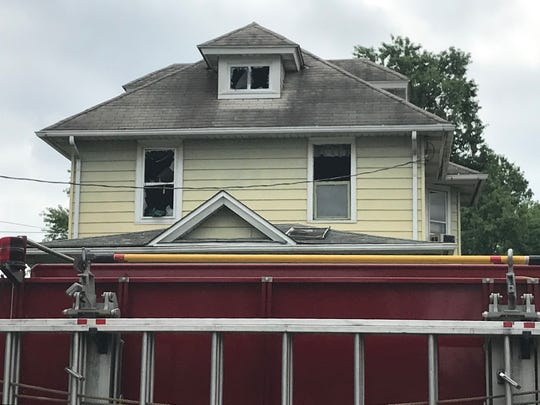 Fire damaged a house on West Haddon Avenue in Oaklyn on Friday morning.