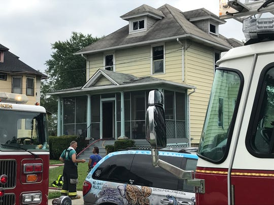 Firefighters from multiple towns responded Friday morning to a two-alarm fire on West Haddon Avenue in Oaklyn.