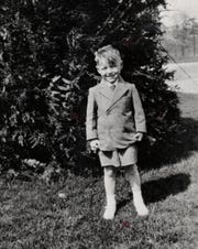 Detroit Tigers baseball player Al Kaline is pictured as a child.