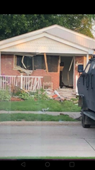 A 60-year-old man has been barricaded inside his St. Clair Shores home since Thursday night when he allegedly shot two neighbors for shooting off fireworks.