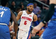 Bruce Brown is playing at point guard for the Pistons in the NBA Summer League.