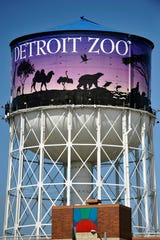 The Detroit Zoo water tower.
