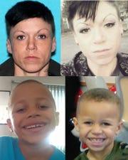 Photos of Danielle Steiner, top, and her son Aubrey Hall.