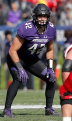 Northwestern linebacker Paddy Fisher