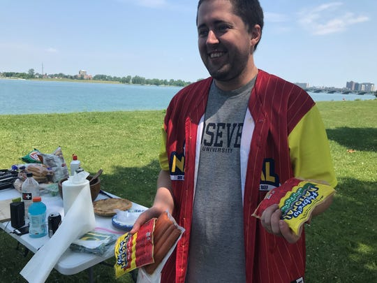 Ely Hydes was well-stocked with his beloved Hebrew National franks for his annual Fourth of July cookout at Belle Isle.