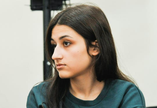 Maria Khachaturyan attends hearings in a court room in Moscow, Russia.