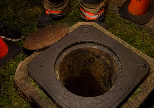 The storm drain where a child was successfully rescued after falling approximately 30 feet Thursday, July 4, 2019.