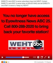 WEHT-ABC25 viewers woke up July 4 to find DIRECTV had dropped the local station's programming.