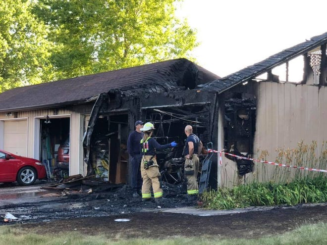 WSFR responds to Conifer Court fire in Windsor Friday.