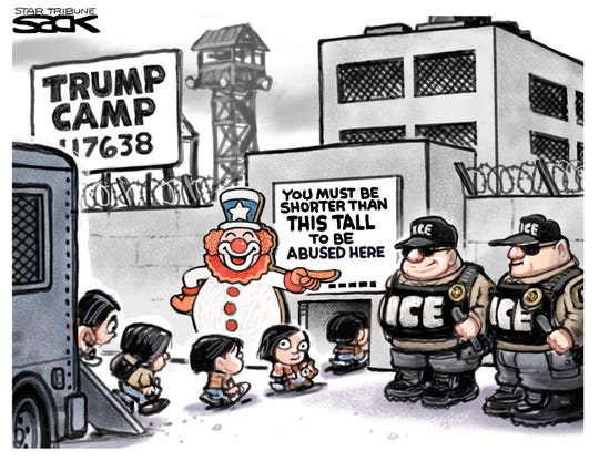 Detention camp for immigrant kids.