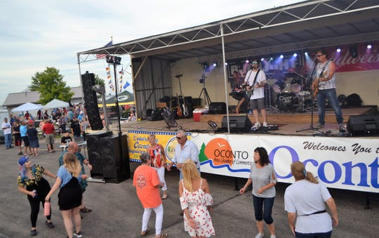 The music of Crossing Paths got people dancing at the 2019 Waterfest at Breakwater Park in Oconto last July 3. The event has been canceled.