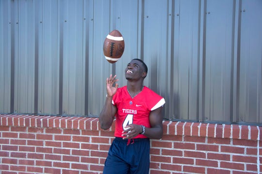 South Panola High School senior athlete Janari Dean is a standout in Mississippi football. Tuesday, July 2, 2019.