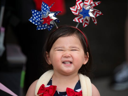 Riana Nagamoto celebrating Independence Day at Festival on the Fourth at World's Fair Park on Thursday, July 4, 2019.