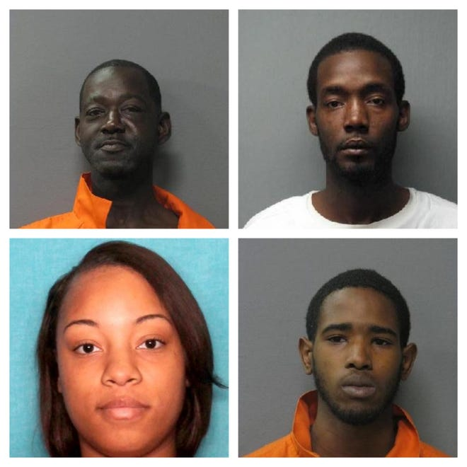 From top left to bottom right: Christopher Williams, Demarcus Thomas, Shawatha Boyd, Deontre Batiste