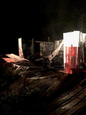 A shop was destroyed in an early morning fire in Carencro.