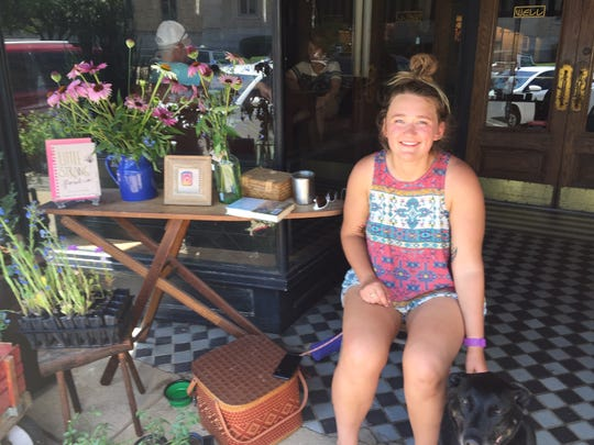 Little Strong Floral Co. owner Tess Putinski sells her products at The Well.