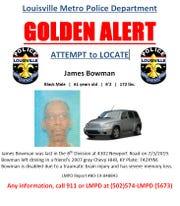 James Bowman, 61. was last seen July 3 in the 4300 block of Newport Road.